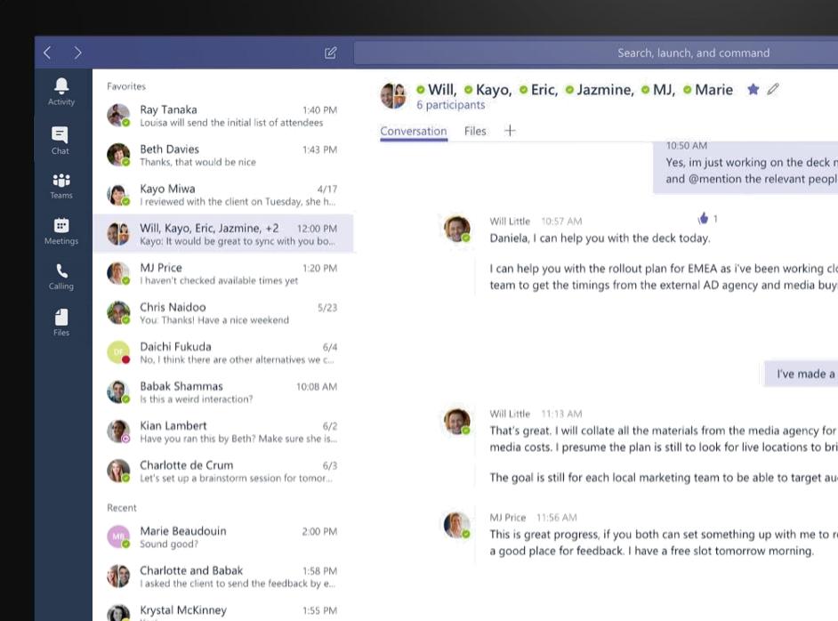 Microsoft Teams Chat Screen Shot | Modern Collaboration With Microsoft Teams
